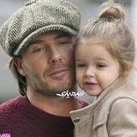جدیدترین عکس های دیوید بکهام و دختر زیبایش