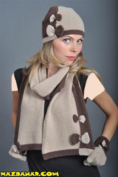 مدل های جدید شال و کلاه دخترانه 2014