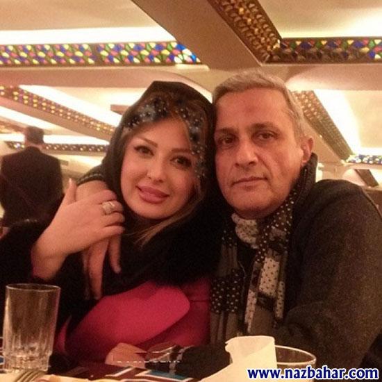 عکس نیوشا ضیغمی در آغوش پدرش|Niosha Zeyghami