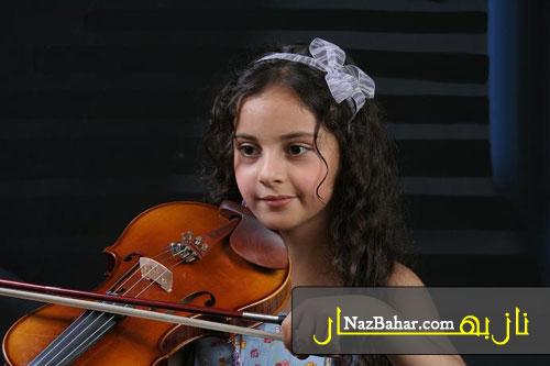 عکس دیدنی و زیبا از کودکی ترلان پروانه,بچگی ترلان ویولن