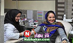 عکس جدید مهناز افشار در حین اهدای خون
