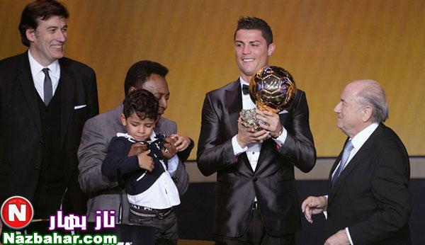 جدیدترین عکسهای کریستیانو رونالدو و پسرش 2014|مراسم اهدای توپ طلا 2013
