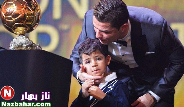 جدیدترین عکسهای کریستیانو رونالدو و پسرش 2014|مراسم اهدای توپ طلا