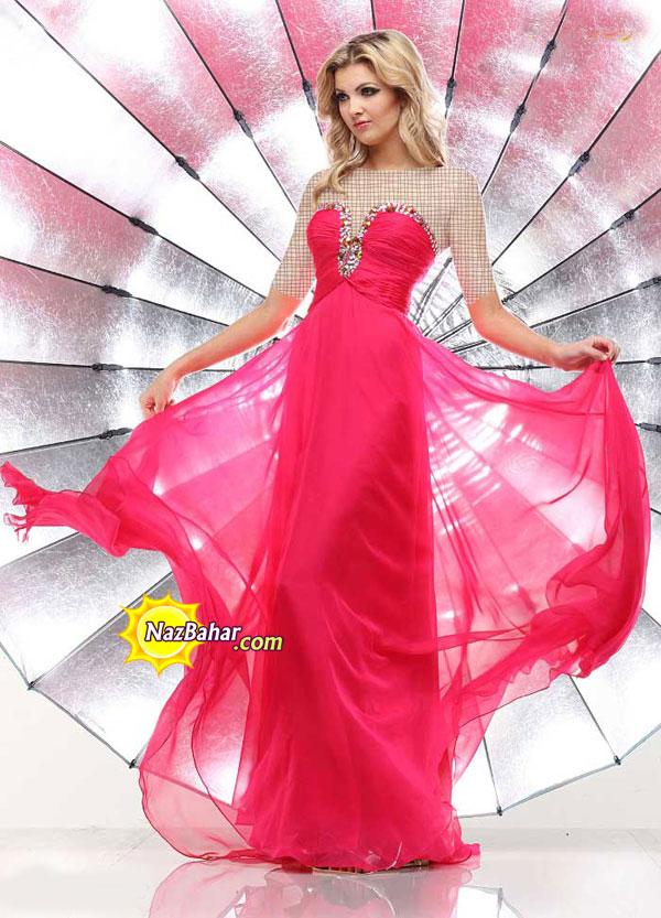 مدل جدید لباس مجلسی دخترانه 93|لباس مجلسی بلند 2014