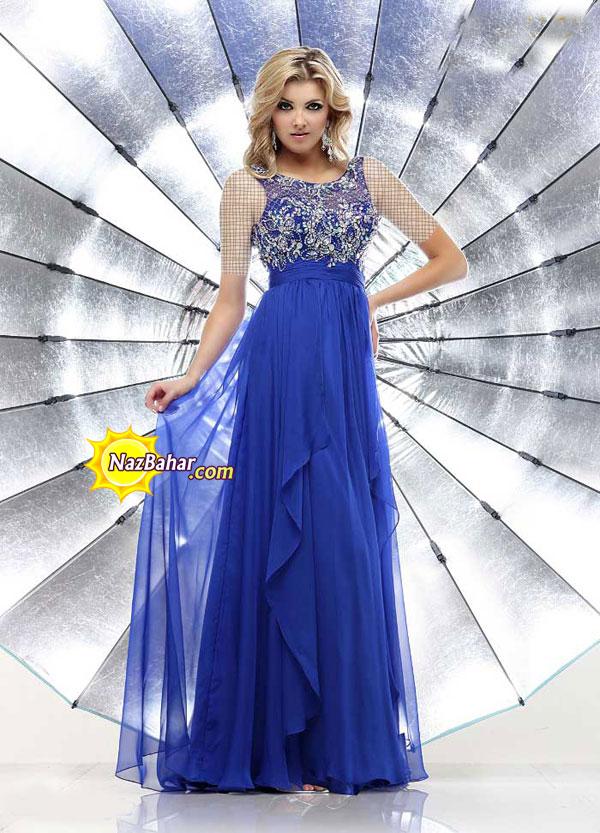 مدل جدید لباس مجلسی بلند دخترانه 93|لباس مجلسی 2014