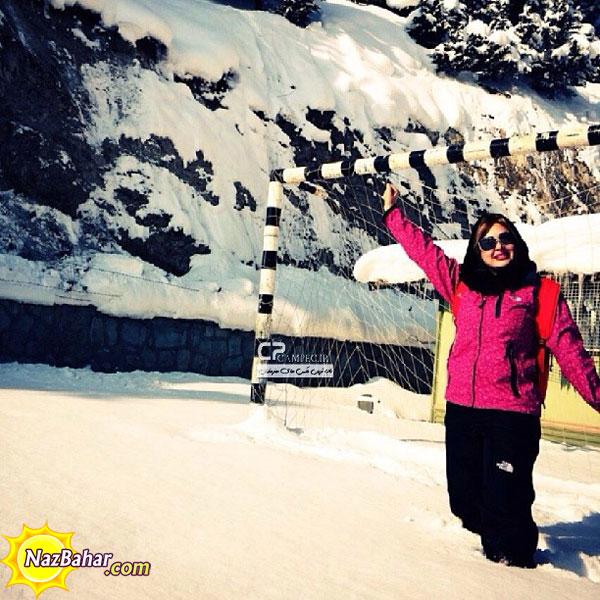 زیباترین عکس های نیوشا ضیغمی+جدید,نیوشا زمستان در برف