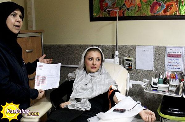 عکس های اهدای خون نیوشا ضیغمی و امیرحسین رستمی