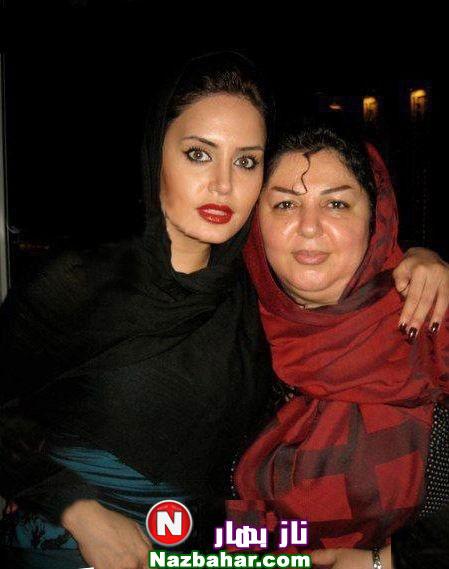عکس الناز شاکردوست با مادرش   shakerdoost elnaz