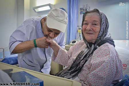 عکس های جدید متفاوت اکبر عبدی,عکس اکبر عبدی در بیمارستان
