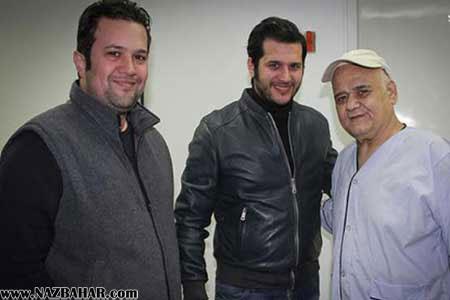 عکس اکبر عبدی در بیمارستان,سیاوش خیرابی و اکبر عبدی