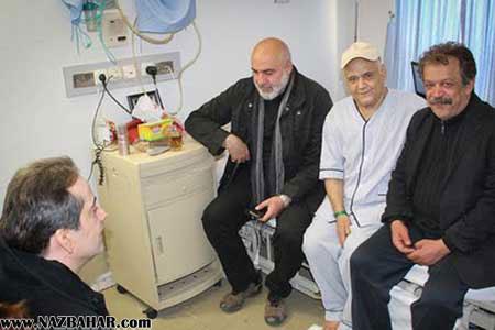 عکس های عیادت هنرمندان از اکبر عبدی در بیمارستان