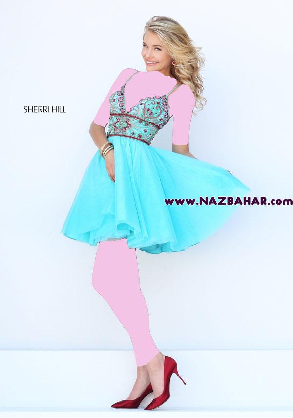مدل لباس مجلسی کوتاه,لباس مجلسی دخترانه کوتاه جدید