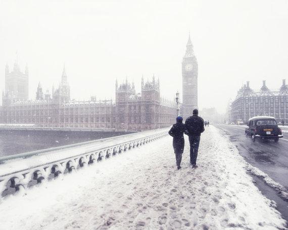 عکس های رمانتیک و عاشقانه برفی زمستانی