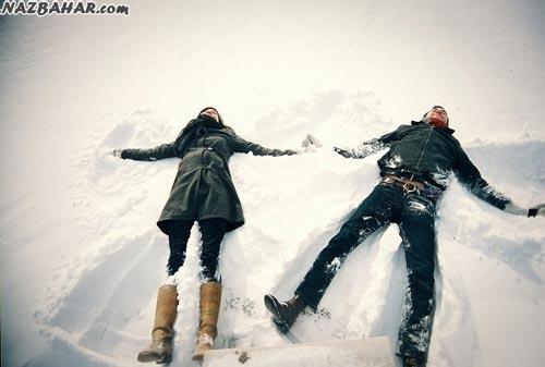عکس برفی,عکس عاشقانه زمستون,عکس های عاشقانه و رمانتیک برفی فصل زمستان