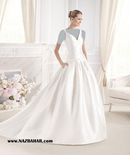مدل لباس عروس,لباس عروس جدید,مدل لباس عروسی پوشیده 2016