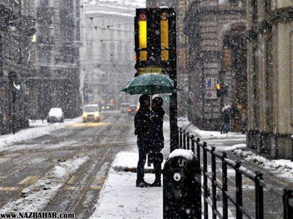 عکس عاشقانه دختر و پسر زمستان برف,عکس رمانتیک دختر پسر زیر برف