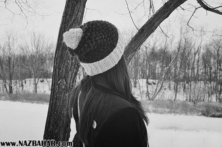 عکس های عاشقانه دختر تنها زیر برف زمستانی,دختر تنها در زمستان