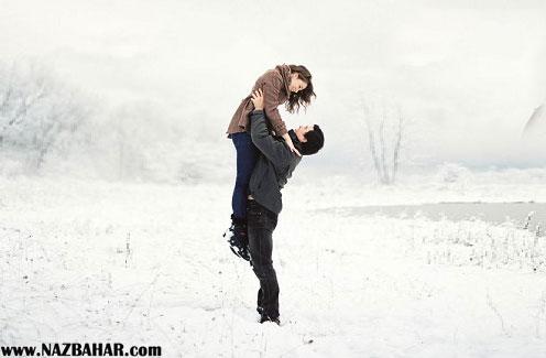 عکس های عاشقانه دو نفره زمستانی,عکس های رمانتیک برفی,عکس دختر پسر در برف