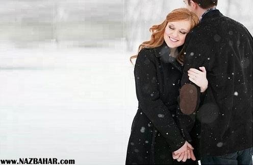 عکس های عاشقانه و رمانتیک برفی فصل زمستان