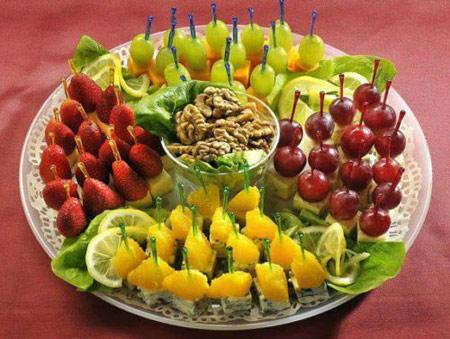 تزیین های زیبای میوه و سفره شب یلدا 93 تزئین میوه در ظرف شب چله