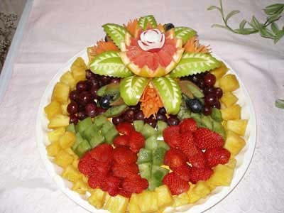 تزیین زیبا میوه و سفره مخصوص شب یلدا 93 مدل جدید تزئین میوه شب چله