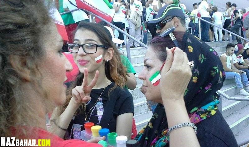 عکسهای داغ تماشاچیان ایرانی در استرالیا,زنان و دختران هوادار ایرانی در جام ملتها 2015