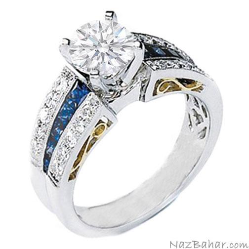 مدل حلقه نامزدی,مدل حلقه ازدواج طلا سفید,ست حلقه عروس