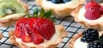 طرز تهیه شیرینی تارت میوه و گردو