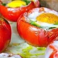 طرز تهیه گوجه شکم پر با تخم مرغ