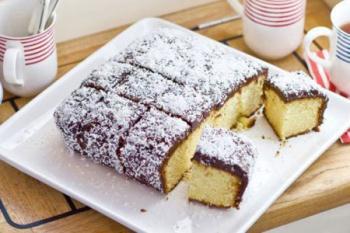 طرز درست کردن کیک لامینگتون