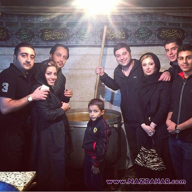 نیوشا ضیغمی,نیوشا ضیغمی و همسرش در حال نذری پختن+عکس