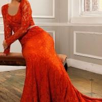 شیک ترین مدل لباس مجلسی گیپور ۲۰۱۶|لباس مجلسی بلند
