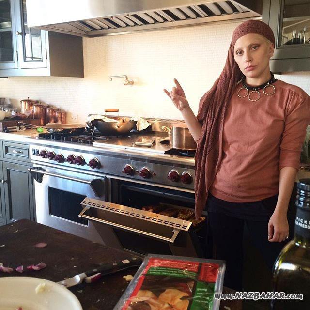 لیدی گاگا هم آشپزی می کند+عکس های اینستاگرامی جدید