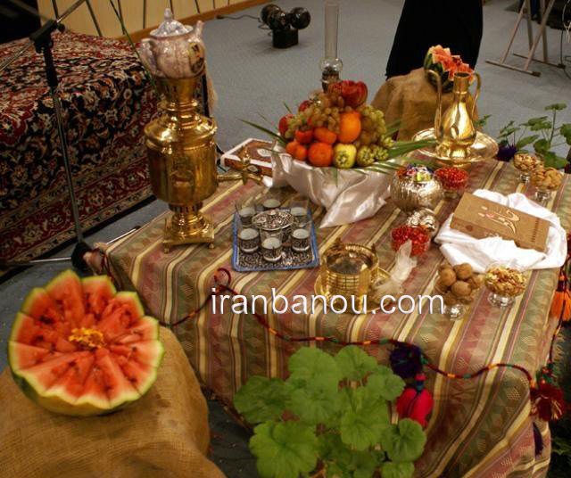 تزئینات میوه شب یلدا , مدل تزیین برای شب چله,تزیین میوه و سفره شب یلدا جدید