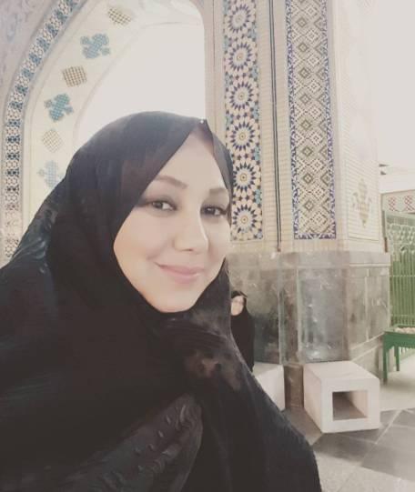 بهنوش بختیاری و عکس جدیدش در مشهد با چادر مشکی