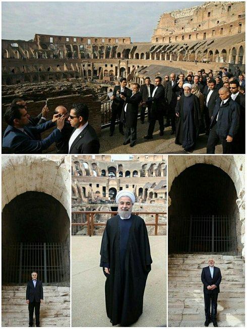میدان نبرد گلادیاتور ها و دیدار روحانی از آن (عکس)