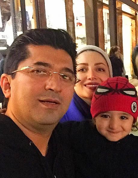 شیلا خداداد و عکس سلفی اش در کالیفرنیا آمریکا با همسر و پسرش