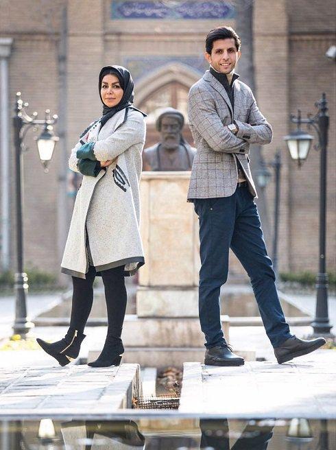 وحید طالب لو را با ژستی جالب در کنار همسرش ببینید