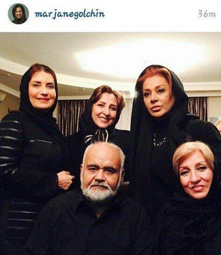 عکس جدید 3 بازیگر در کنار اکبر عبدی