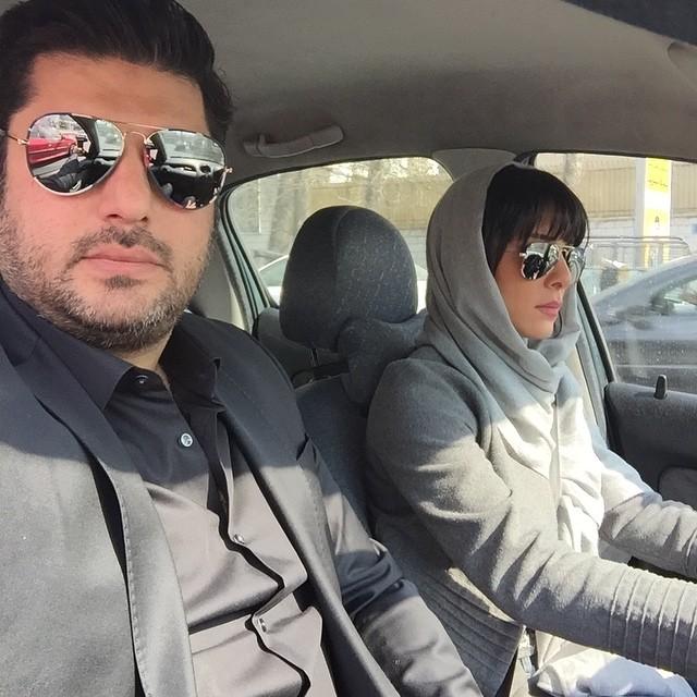 عکس جدید سام درخشانی و همسرش اسفند 94