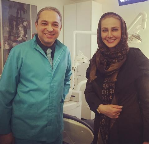آنا نعمتی را در کنار دکتر دندانپزشکش ببینید