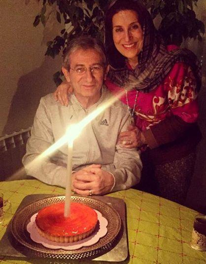 فاطمه معتمدآریا را در جشن تولدش در کنار همسرش ببینید