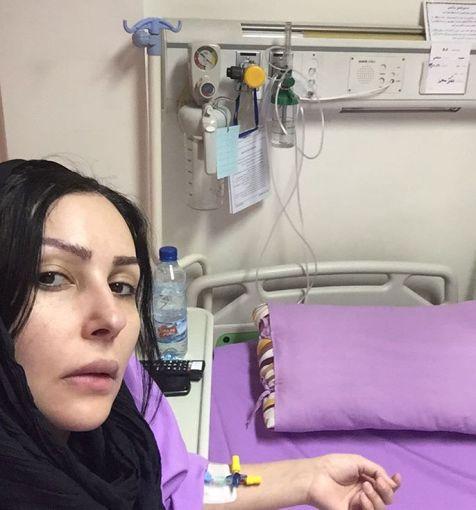 پرستو صالحی را بدون آرایش در بیمارستان ببینید