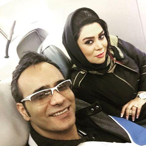 عکس جدید شهرام شکوهی در راه کیش در کنار همسرش