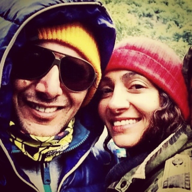 عکس جدید امین حیایی و همسرش نیلوفر خوش خلق