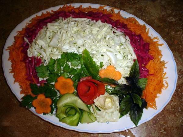 سفره آرایی خلاقیت آشپزی تزیین سالاد تزیین زیبای سالاد بهترین سایت آشپزی
