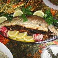 طرز پخت ماهی شکم پر برای شب عید