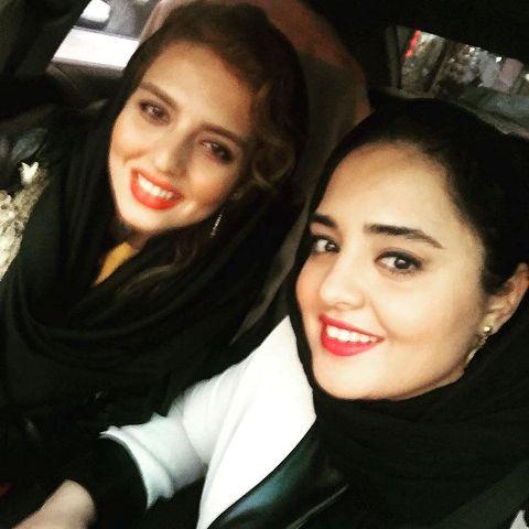 عکس جدید نرگس محمدی در کنار خواهرش