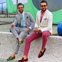 مدلها و تیپ های عجیب در هفته مد ایتالیا