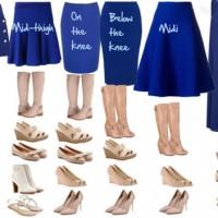 انتخاب مدل کفش متناسب با قد دامن